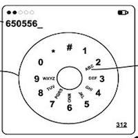 iPhone-Wählscheibe