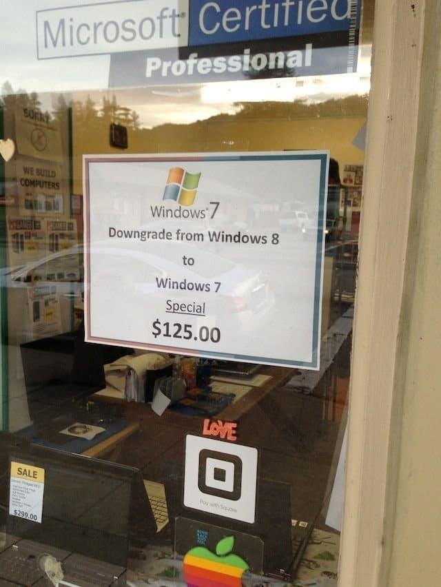 Downgrade auf Windows 7