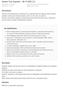 Apple sucht nach System Test Engineer für Wi-Fi
