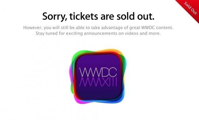 WWDC 2013 ausverkauft