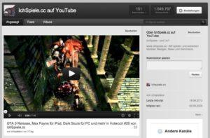 YouTube IchSpielecc-Kanal
