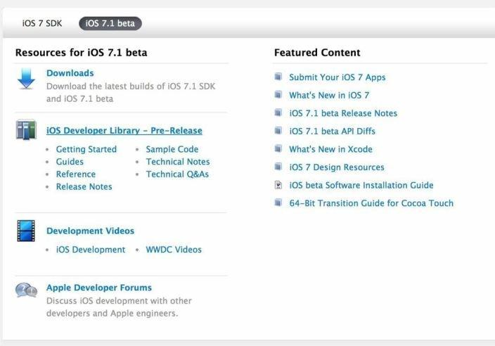 Betaversion von iOS 7.1