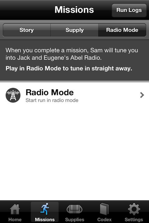 Zombies, Run! Radiomodus